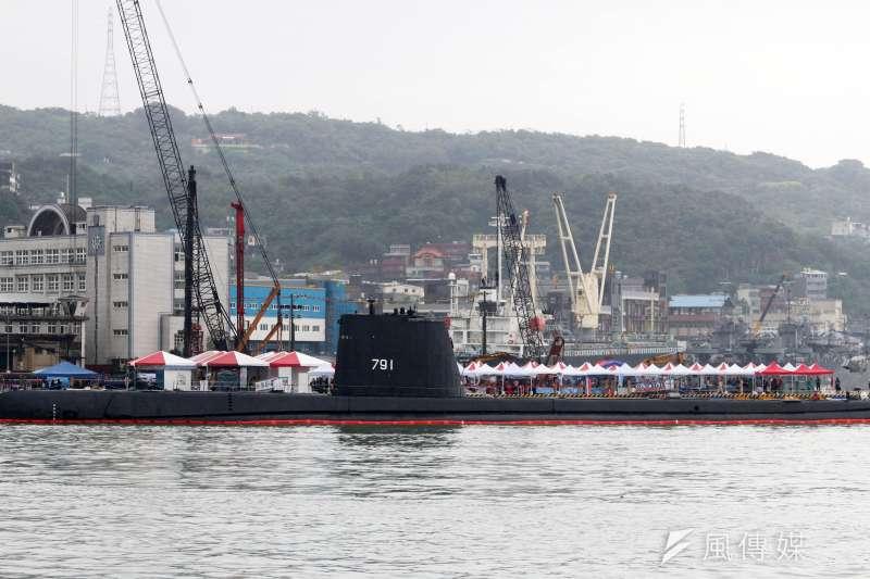 20210430-海軍現有2艘茄比級潛艦仍在役,主要負責人員訓練,此級潛艦早在二戰時期的1940年代就已下水,換算艦齡逼近80年。(蘇仲泓攝)