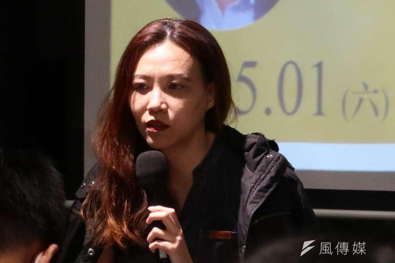 財經網美胡采蘋透露,2010年她任職中國《財經》雜誌期間,向校園徵才時可招收實習生時,居然握有決定實習生落戶北京的「生殺大權」。(林庭瑤攝)