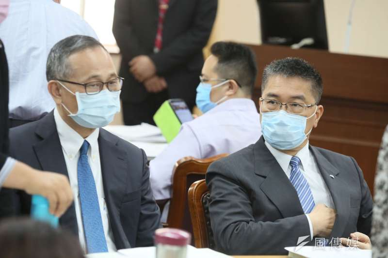 警界多起爭議,讓陳家欽(左)和其頂頭上司徐國勇(右)的鬥爭再度浮上檯面。(資料照,柯承惠攝)
