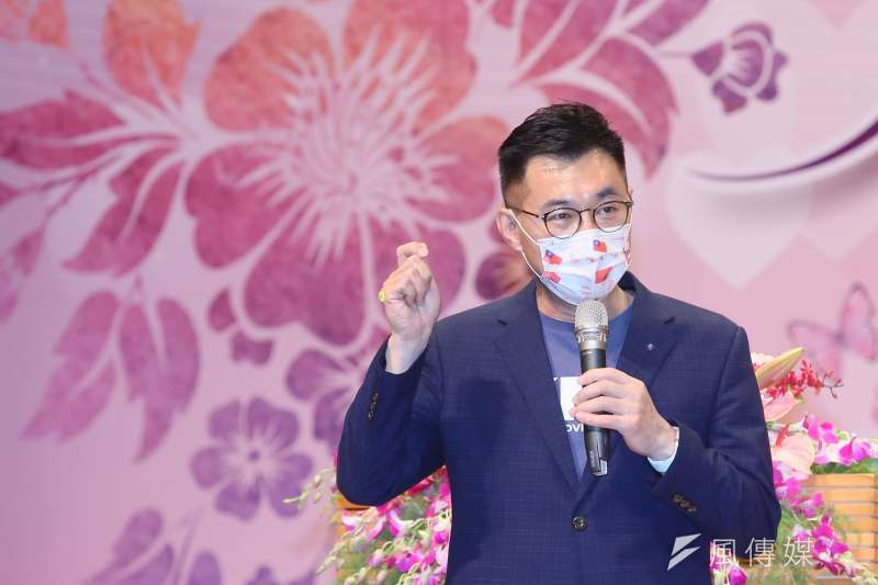 20210504-國民黨主席江啟臣4日出席中華民國婦女 總會暨新北市婦女會慶祝婦女節表揚大會。(柯承惠攝)