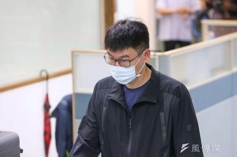 20210505-台北市議員梁文傑5日出席民進黨中常會。(顏麟宇攝)
