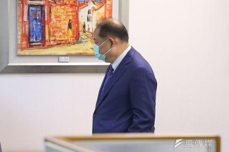 20210505-民進黨中常委黃承國5日出席民進黨中常會。(顏麟宇攝)