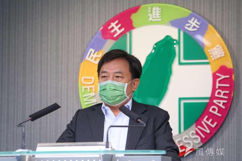 民進黨秘書長林錫耀出席該黨全國主委會議。(資料照片,顏麟宇攝)