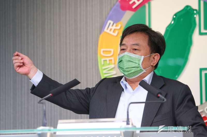 民進黨秘書長林錫耀出席民進黨主委會議。(資料照片,顏麟宇攝)