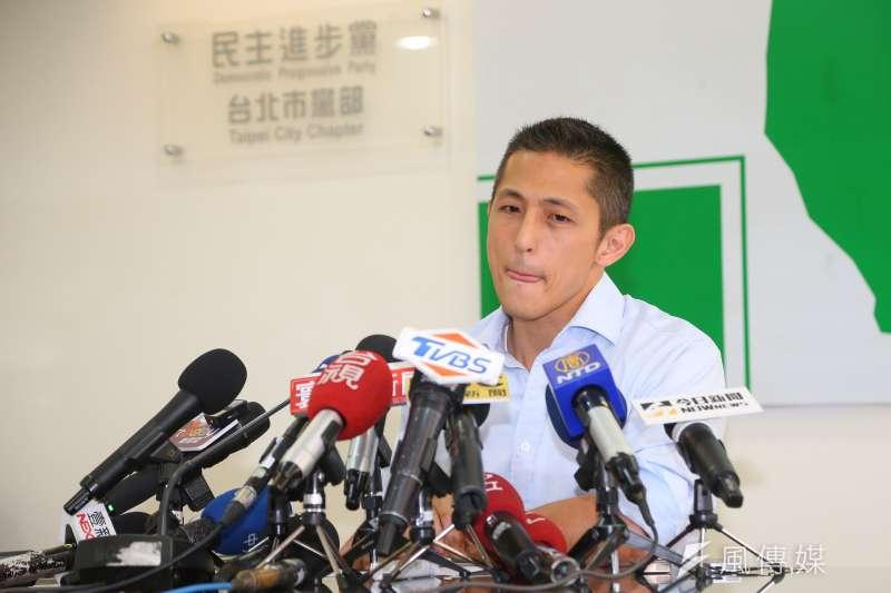 20210505-民進黨台北市黨部主委吳怡農5日召開黨務改革說明會。(顏麟宇攝)