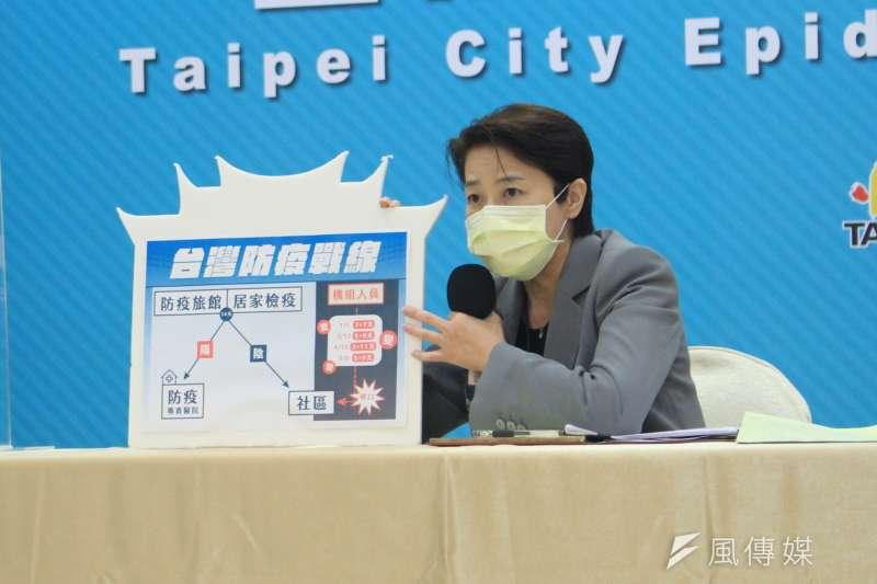 台北市副市長黃珊珊(見圖)表示,公有場館部分即日起檢視並下修容留人數。(方炳超攝)