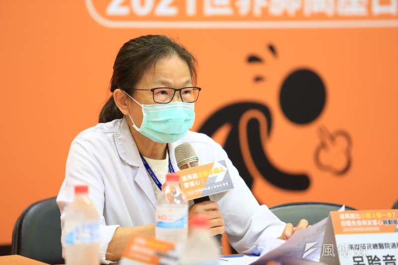 高榮過敏免疫風濕科呂聆音主任提醒,自體免疫性疾病病友病發肺動脈高壓的機率較一般人高,應提高警覺。(圖/徐炳文攝)