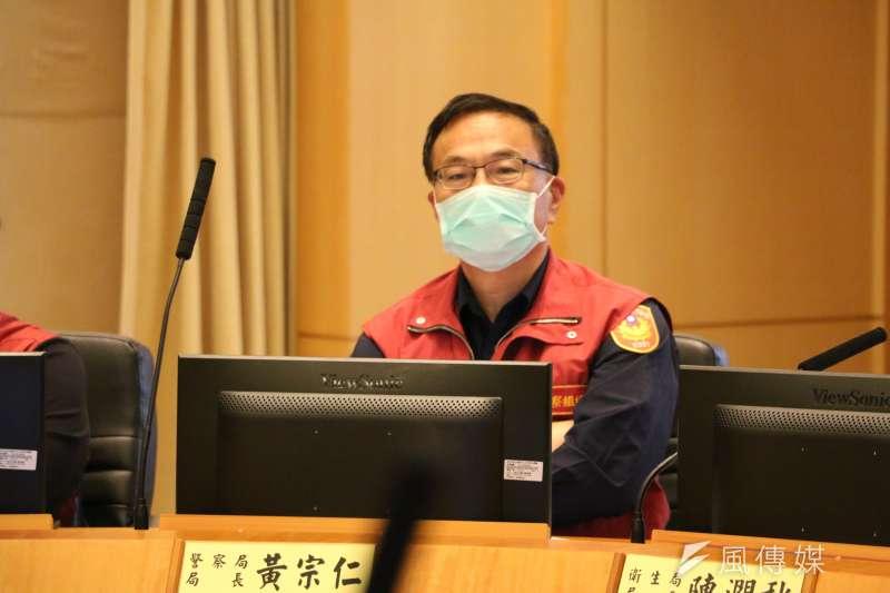 新北市警察局長黃宗仁向黑道宣戰,要他們「好膽麥造」!。(圖/李梅瑛攝)