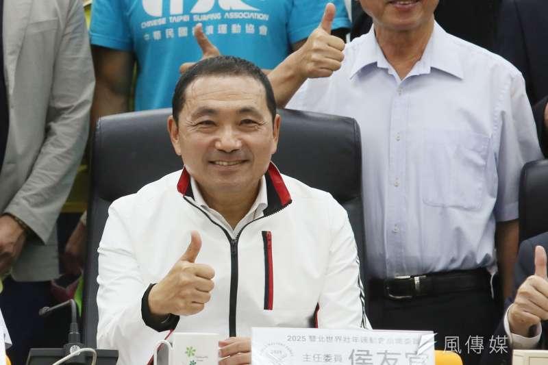 新台灣國策智庫11日公布最新民調,新北市長侯友宜滿意度高達81.2%。(資料照,柯承惠攝)