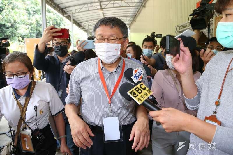 台北市長柯文哲(見圖)宣布,雙北市國三、高三學生17日起停課。(資料照,顏麟宇攝)