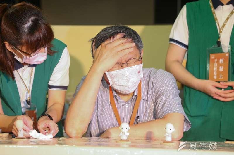 台北市長柯文哲(見圖)12日指出,「許多」確診者曾在4、5月份到中南部進香,而且大家都是共餐同住沒戴口罩。(資料照,顏麟宇攝)