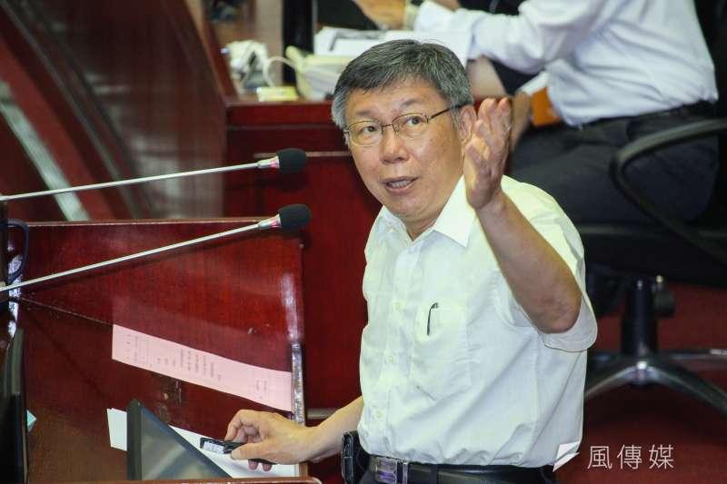 國民黨青年部主任陳冠安表示,民眾黨支持者比例極為年輕,被台灣民眾黨主席、台北市長柯文哲(見圖)拉走的年輕人「主要是綠營的」。(資料照,蔡親傑攝)