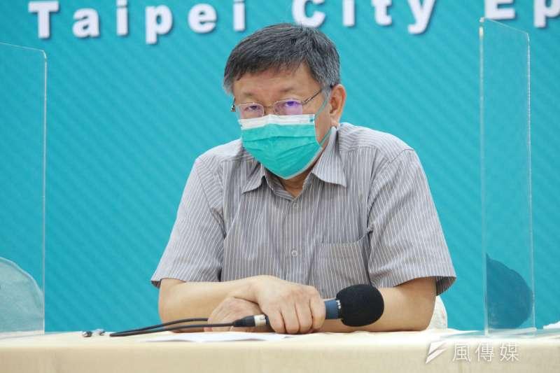 針對北市警局風波,台北市長柯文哲表示,11日有和警察局溝通改善方案。(資料照,方炳超攝)