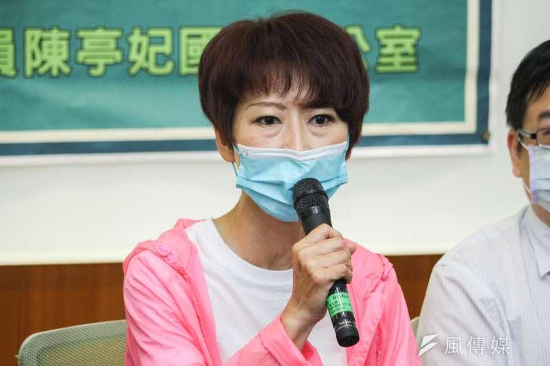 針對防疫狀況,立委陳亭妃21日表示,現階段中央地方應一起來共同負起責任。(資料照,蔡親傑攝)