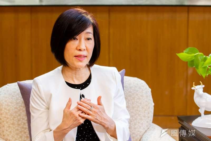 經濟部國際貿易局長江文若接受專訪。(蔡親傑攝)