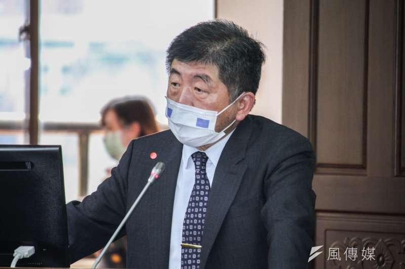 衛福部長陳時中出席立院社福衛環委員會備詢。(蔡親傑攝)