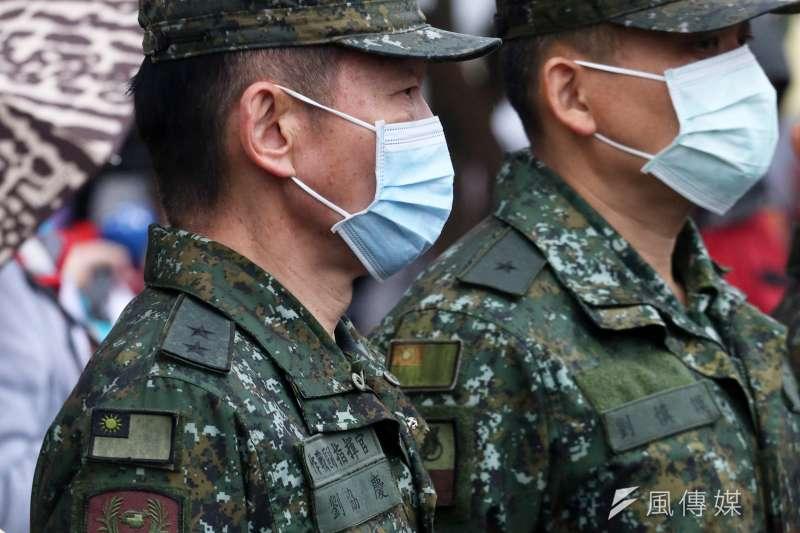 20210515-蔡政府推行轉型正義,國軍現行保有的中國元素成為關注焦點,如今不少部隊徽(圖)都還看得到「秋海棠」圖示。(蘇仲泓攝)