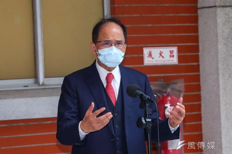 立法院長游錫堃20日於立院接受媒體聯訪。(資料照,顏麟宇攝)
