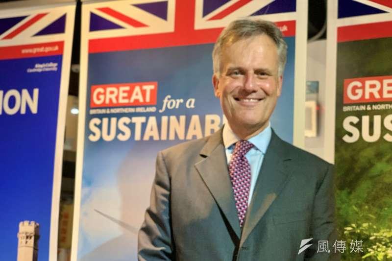 英國在台協會代表鄧元翰(簡恒宇攝)