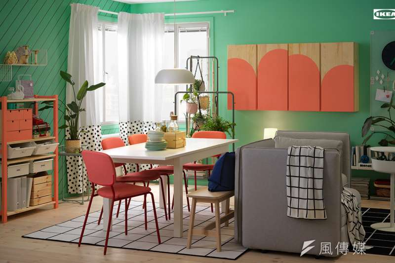 IKEA針對視訊上班族群,提供各種空間情境供大眾免費套用。(圖/IKEA提供)
