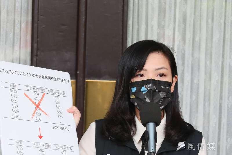 民眾黨立委高虹安(見圖)質疑交通部運用9000萬元紓困預算拍攝VR觀光宣傳影片的正當性與急迫性。(資料照,柯承惠攝)