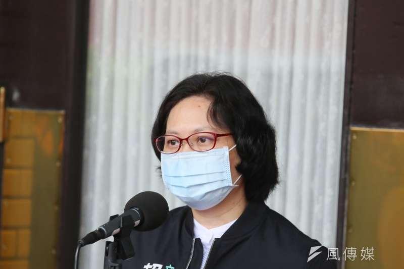 針對高端疫苗公司工廠參訪未有任何立委參訪,台灣民眾黨立委賴香伶提出質疑。(資料照,柯承惠攝)