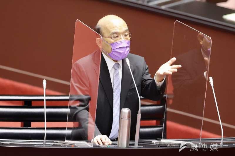 行政院長蘇貞昌今(9)日表示,針對這次的Delta疫情,目前還沒有要升疫情三級警戒。(圖/台北市攝影記者聯誼會提供)