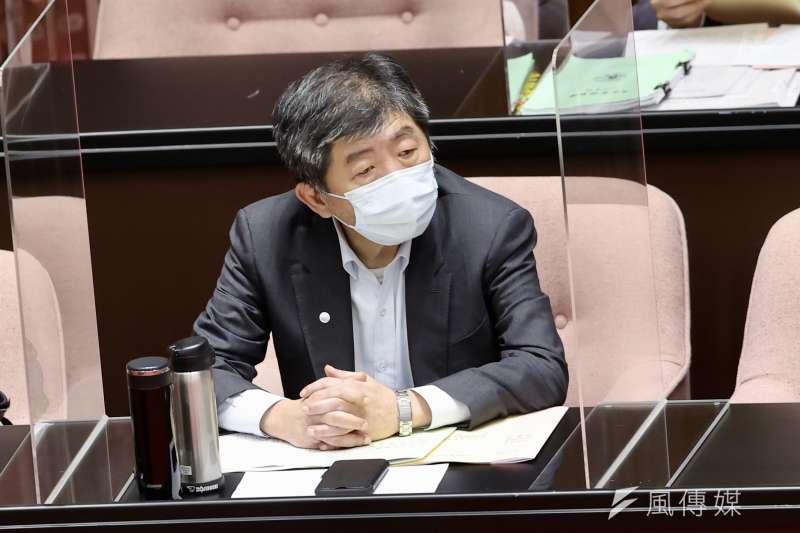 衛福部長陳時中坦言,近來疫苗進貨速度「事實上是慢」,政府盡力多方溝通,「當然要表達很抱歉」。(資料照,台北市攝影記者聯誼會提供)