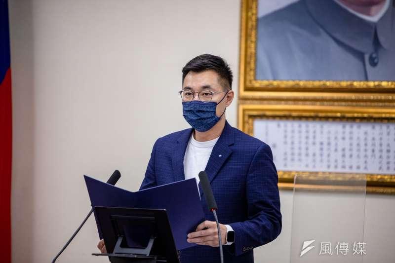 國民黨主席江啟臣(見圖)23日出席國民黨中常會,對蔡政府的防疫作為提出批評。(資料照,國民黨提供)