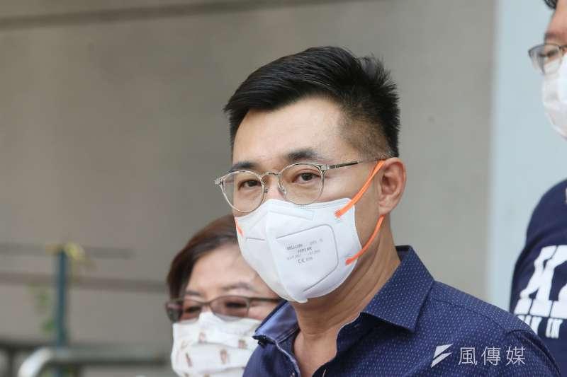 疫情的政治紅利被台北市長柯文哲領軍的台灣民眾黨整碗端走,這讓國民黨主席江啟臣(見圖)的連任選情更加雪上加霜。(資料照,柯承惠攝)