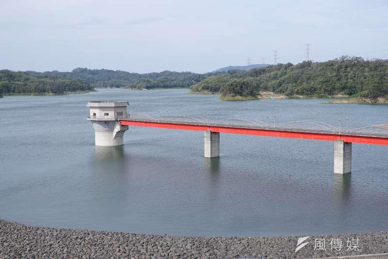 寶山第二水庫水位回升,蓄水率達7成,新竹縣市夏季供水無虞。(盧逸峰攝)