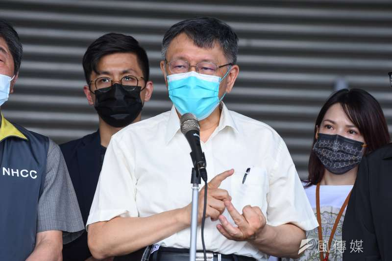 台北市長柯文哲2日表示,41例的確診者大多是周邊的流動人員,真正確診的市場攤商僅12例。(資料照,顏麟宇攝)