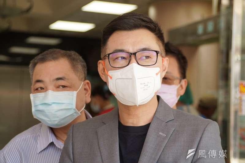 國民黨主席江啟臣及立院黨團藍委近日要求政府公開疫苗採購價格。(資料照,盧逸峰攝)