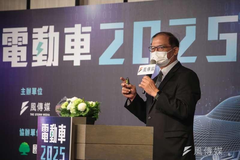 台灣車輛移動研發聯盟主委胡竹生16日出席風傳媒舉辦「電動車2025」線上論壇。(顏麟宇攝)