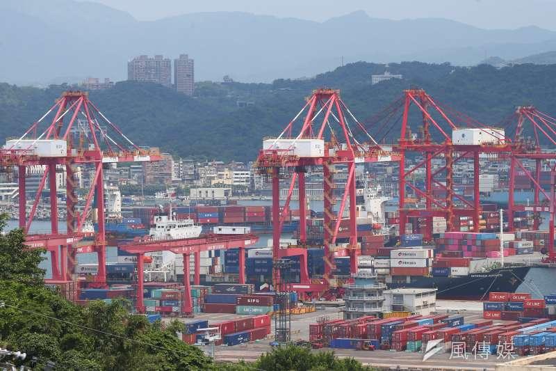 20210728-基隆港貨櫃碼頭,貨輪。(顏麟宇攝)