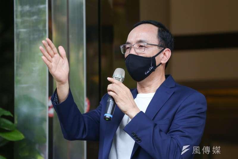 前國民黨主席朱立倫宣布投入國民黨主席競選。(資料照,顏麟宇攝)