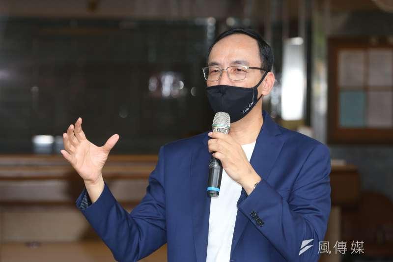 20210803-前國民黨主席朱立倫3日出席「改變才有希望」競選國民黨主席媒體聯訪。(顏麟宇攝)