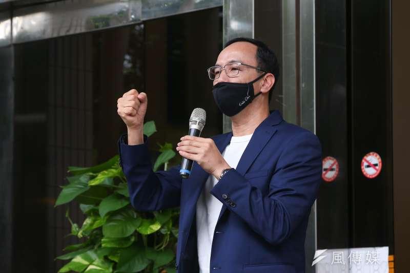 前國民黨主席朱立倫宣布競選國民黨主席,並接受媒體聯訪。(資料照,顏麟宇攝)