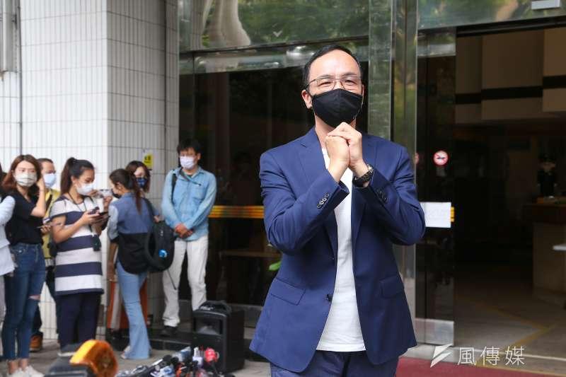 前國民黨主席朱立倫3日出席「改變才有希望」競選國民黨主席媒體聯訪。(資料照,顏麟宇攝)