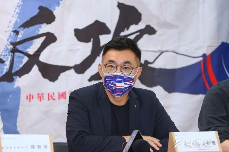 20210804-國民黨主席江啟臣4日出席青年部舉辦【戰鬥藍集結!網紅青年營】發布記者會。(顏麟宇攝)
