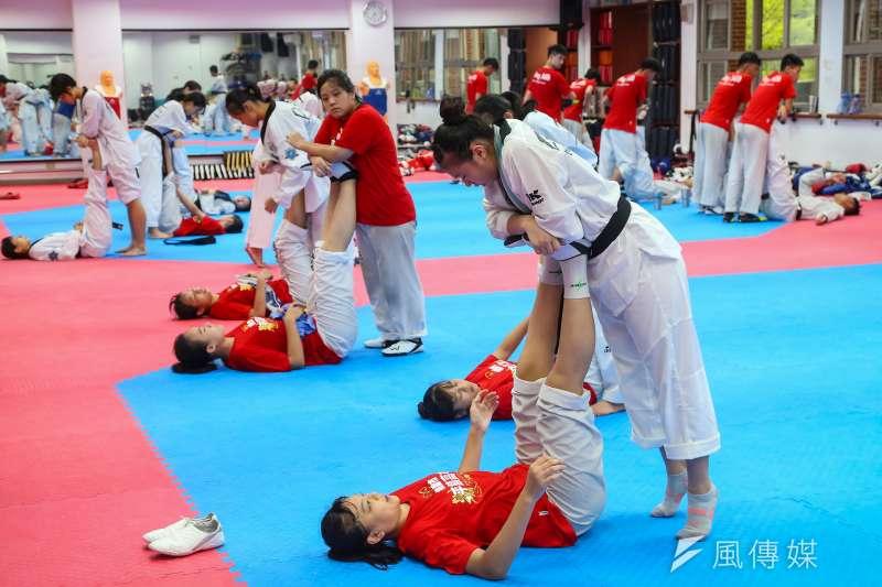 20210813-體育改革專題,桃園平鎮高中體育班,跆拳道校隊,收操。(顏麟宇攝)