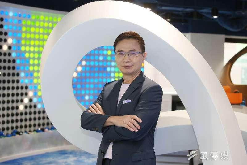外貿協會董事長黃志芳接受《風傳媒》專訪,大談數位轉型。(圖/柯承惠攝)