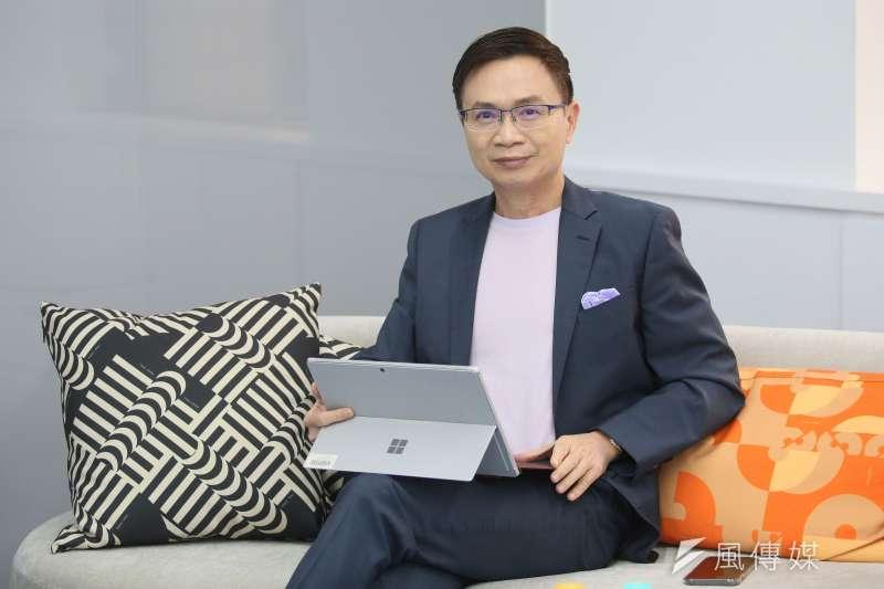 外貿協會董事長黃志芳接受《風傳媒》專訪,強調重視ESG刻不容緩。(柯承惠攝)