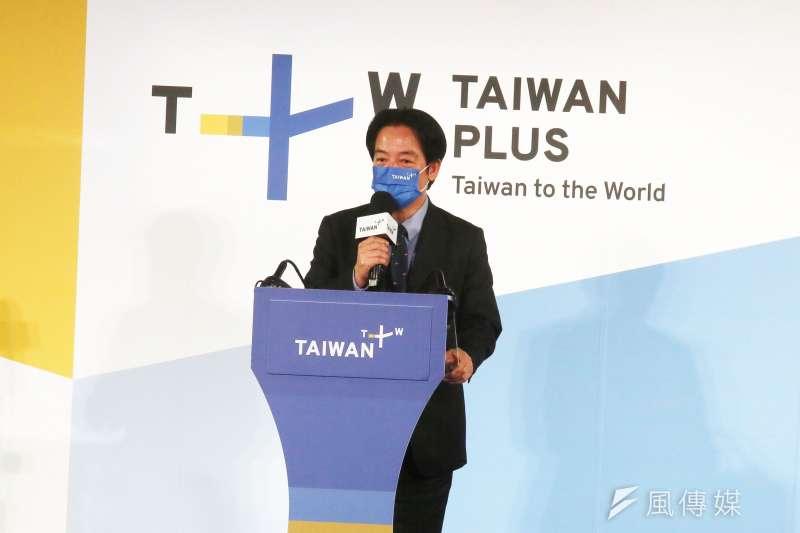 副總統賴清德在《TaiwanPlus》開播典禮時,使用全英語且不看稿致詞演講。(資料照,柯承惠攝)