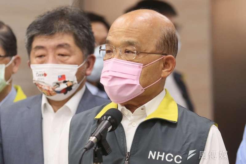 針對「3+11」決策過程專案報告,行政院長蘇貞昌指出,在防疫過程所做的每一項決策,不可能都盡善盡美。(資料照,柯承惠攝)