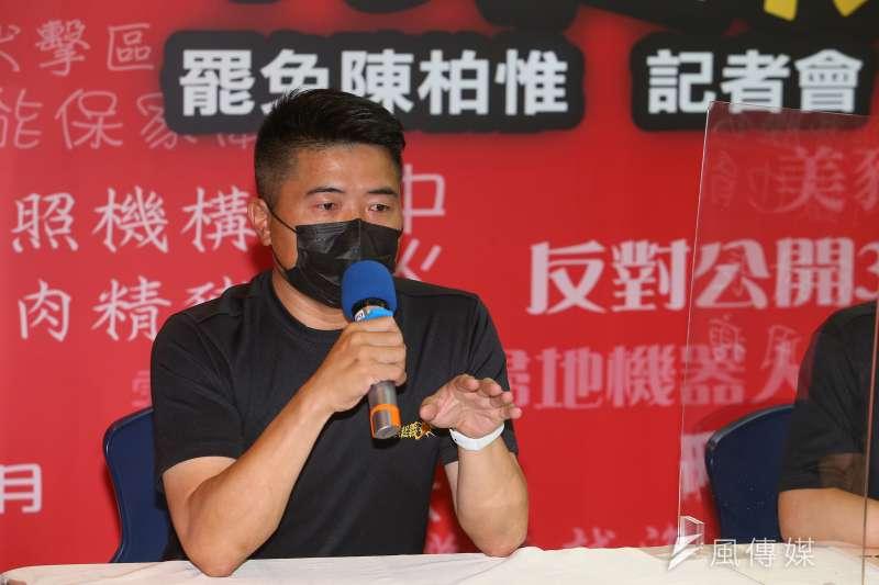 前立委顏寬恆9日出席「平民起義!罷免陳柏惟」宣傳記者會。(資料照,顏麟宇攝)
