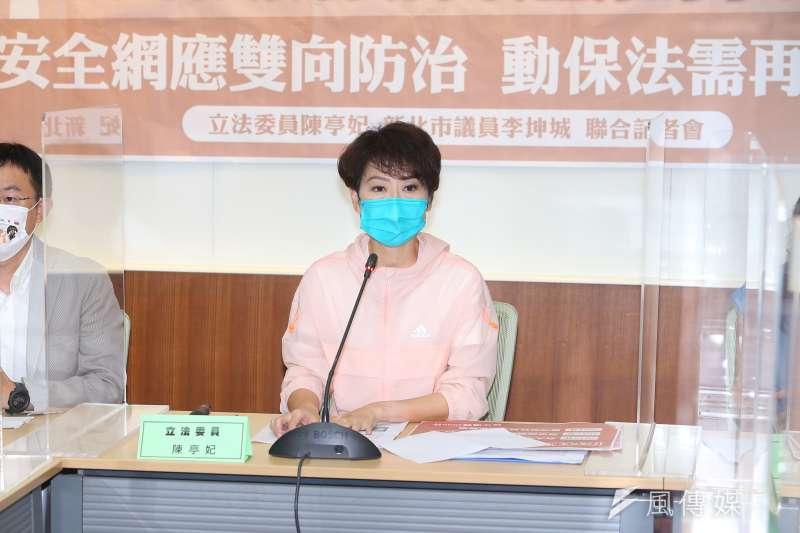 作者指出,陳亭妃在民視「新台灣奇案」中演媽祖,但或許事前遭非議又被開罰,這回用立委之名先向NCC發文。(資料照,顏麟宇攝)