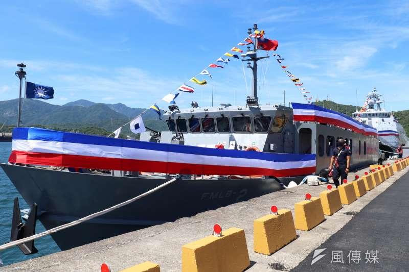 20210910-第二艘快速布雷艇9日交艇,而在海軍不對稱戰力整建版圖中,快速布雷艇扮演了重要的角色;新艇更具自動化布雷能力,大幅提升封鎖特定海域效率。(蘇仲泓攝)