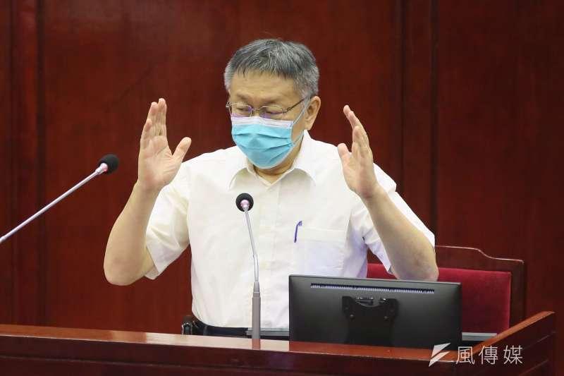台北市長柯文哲表示年底要公告社子島區段徵收方案。(柯承惠攝)