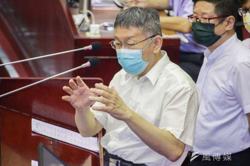 20210917-台北市長柯文哲至市議會施政報告與備詢。(蔡親傑攝)